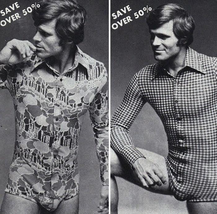 Pub dessous masculins 70s