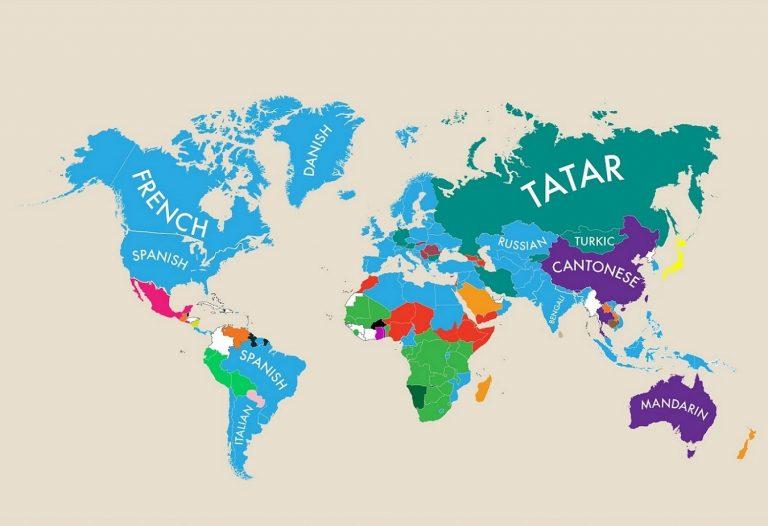 Cartographie : quelle est la deuxième langue de chaque pays ?