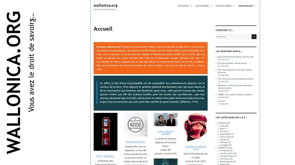 Accueil wallonica.org