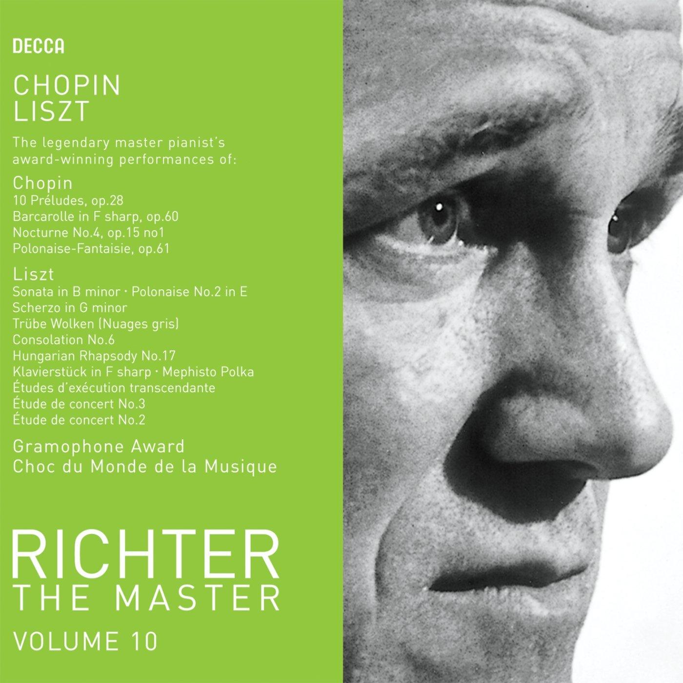 LISZT, Franz (1811-1886) Trübe Wolken (Nuages gris, S. 199) par Sviatoslav RICHTER