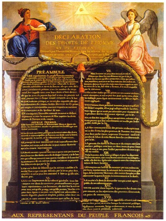 Déclaration universelle des droits de l'homme (XVIIIe)